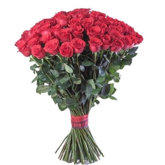 Букет 101 красная роза 80 см