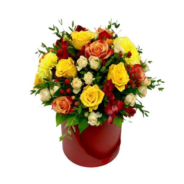 Цветы в коробке Фруктовый сад фото