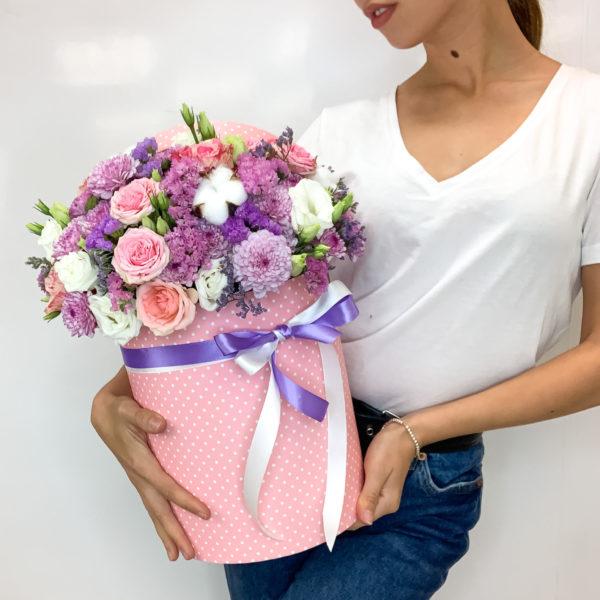 Коробка с цветами Для тебя фото