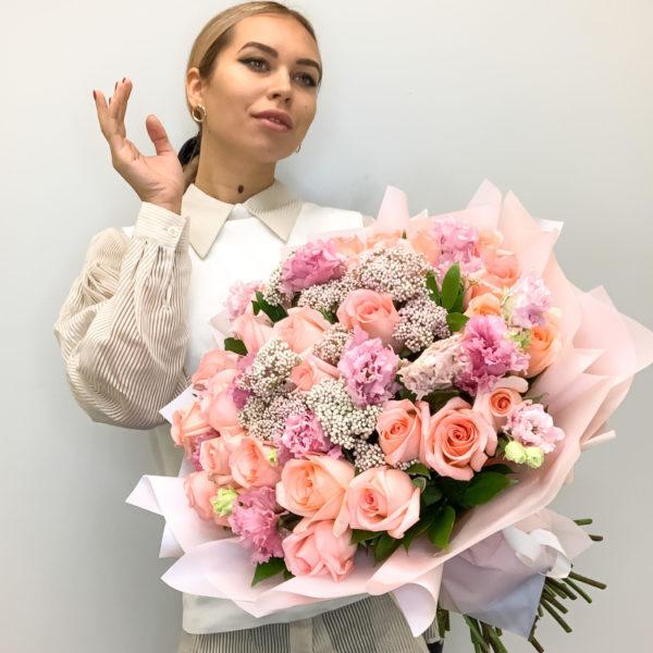 Букет Розовые розы фото