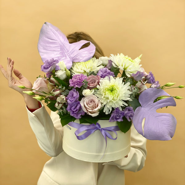 Коробка с цветами Автограф фото