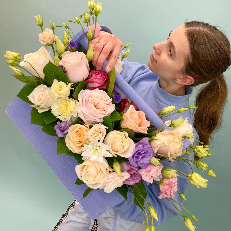 Ящик с цветами Апрель фото